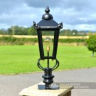 83cm Victorian Pillar Light and Lantern Set in Situ on a Pillar