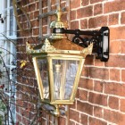 Side view of Polished Brass Wall Lantern