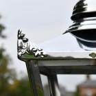 Close up of Victorian Lantern with corner embellishments