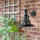 "Black ""Ironbridge Coach House"" Light Fitted to Black Wall"