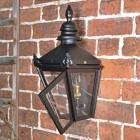 Harrogate Black Wall Lantern in Situ