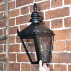 Harrogate Black Wall Lantern in full