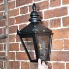 Harrogate Black Wall Lantern in full