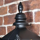 Harrogate Black Wall Lantern with top finial