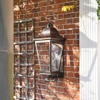 'Mosebly Manor' Antique Black Wall Lantern  in Situ