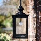 Simplistic square design garden lantern