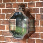 Antique Copper Nautical Inspired Flush Wall Light