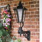 Six Sided Victorian Black Wall Light