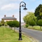 """Lord Hadrian"" Antique Black Cast Iron Ornate Lamp Post 3.1m"