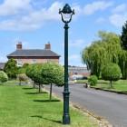 Antique Green Opulent Cast Iron Lamp Post