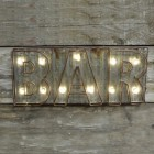 Light-up Bar Wall Decoration in Situ
