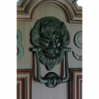 "Black Iron ""Downing street lion"" Door Knocker"