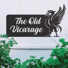 Liver Bird Iron House Name Sign with White Vinyl