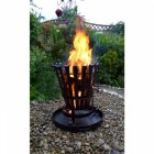 Hereford Log Burner and Barbecue in Black Iron