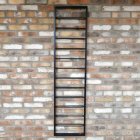 """The """"Ladder"""" Wine Wall Rack in Situ on a  Brick Wall"""