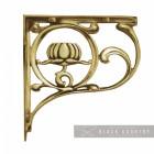 """Lotus Flower""  Shelf Bracket Finished in a Polsihed Brass"