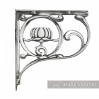 """Lotus Flower"" Wall Bracket Finished in a Bright Chrome"
