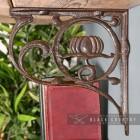 "Side View of the ""Lotus Flower"" Iron Shelf Bracket"