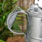 Close-up of the Handle on the Galvanised Wateringcan