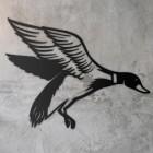 """Mallard"" Duck Wall Art in Situ on a Rustic Wall"
