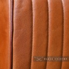Padded Tan Goat Leather on the Bug Stool
