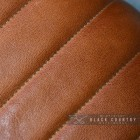 Close-up of the Padded Tan Goat Leather on the Stool