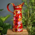 Large Traditional Hand Painted Narrowboat Style Jug Finished in Green