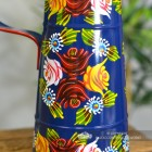 Close-up of the Hand Painted Rose Design on the Narrowboat Jug