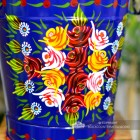 Close-up of the Hand Painted Rose Design