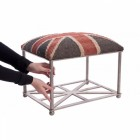 """Westfield Estate"" Cushioned Iron Stool"