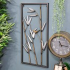 Metal Bamboo Metal Wall Art in Situ in the Home