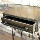 Metal Industrial Bedside Cabinet