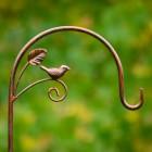 Bird & Leaf Design Shepherds Crook Finished in a Metallic Bronze