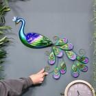 Metallic Glass & Metal Peacock to Scale