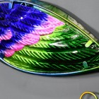 Close-up of the Metallic Colourful Tail on the Peacock