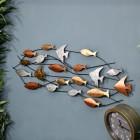 Metallic Swimming Fish Wall Art in the House