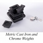 Brass and Chrome Metric Weights