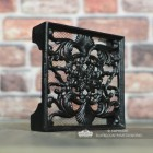 """Sanders Avenue"" 9"" x 9"" Cast Iron Ornate Air Brick Finished in Black"
