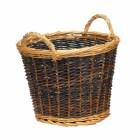 Small Mixed Tone Traditional Log Basket