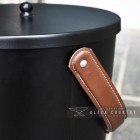 Modern Ash Bucket Finished in Black