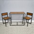 Modern Industrial Style Table With Two Chairs