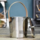Modern Stainless Steel Ash Bucket with Removable Lid