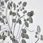 Close-up of the Grey Finish on the Modern Tree Wall Art