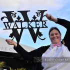 Walker Monogram Sign to Scale