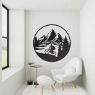 Mountain Bike Wall Art in Living Room