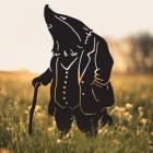 Mr Badger Silhouette Silhouette in Situ in a Field