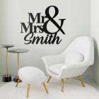 Mr & Mrs Personalised Wall Art