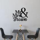 Mr & Mrs Wall Art in Situ