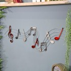 Musical Wall Art Sign Created Out of Metal