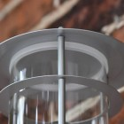 Close-up of the Silver Finish on the Wall Light